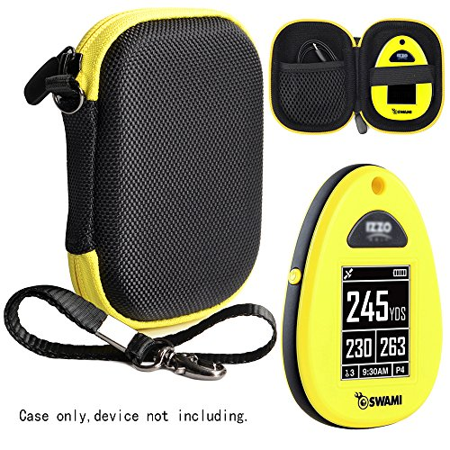 Golf Course GPS Case for Golf GPS, Specially Designed for IZZO Swami 4000+ Golf GPS, and Swami 4000, Swami 5000 Golf GPS Rangefinder; Garmin Approach G30, G6, G7 (Black with Yellow zip)