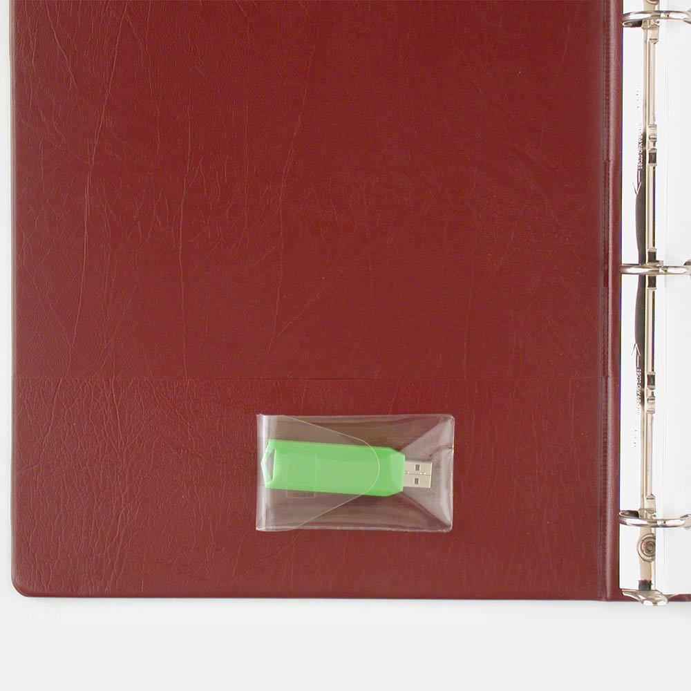 StoreSMART - USB Flash Drive Holders- Peel & Stick Strip & Resealable Flap - 25-Pack - TL10252-25