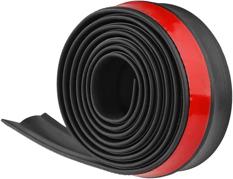Tiras de ONEVER, de goma, universales y adhesivas, para pegar el parachoques del coche, de 2,5m de largo y 60mm de ancho