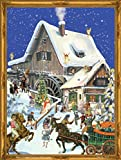 Victorian Christmas Mill Scene Advent Calendar Approx 10.5-in x 14-inches (70117)