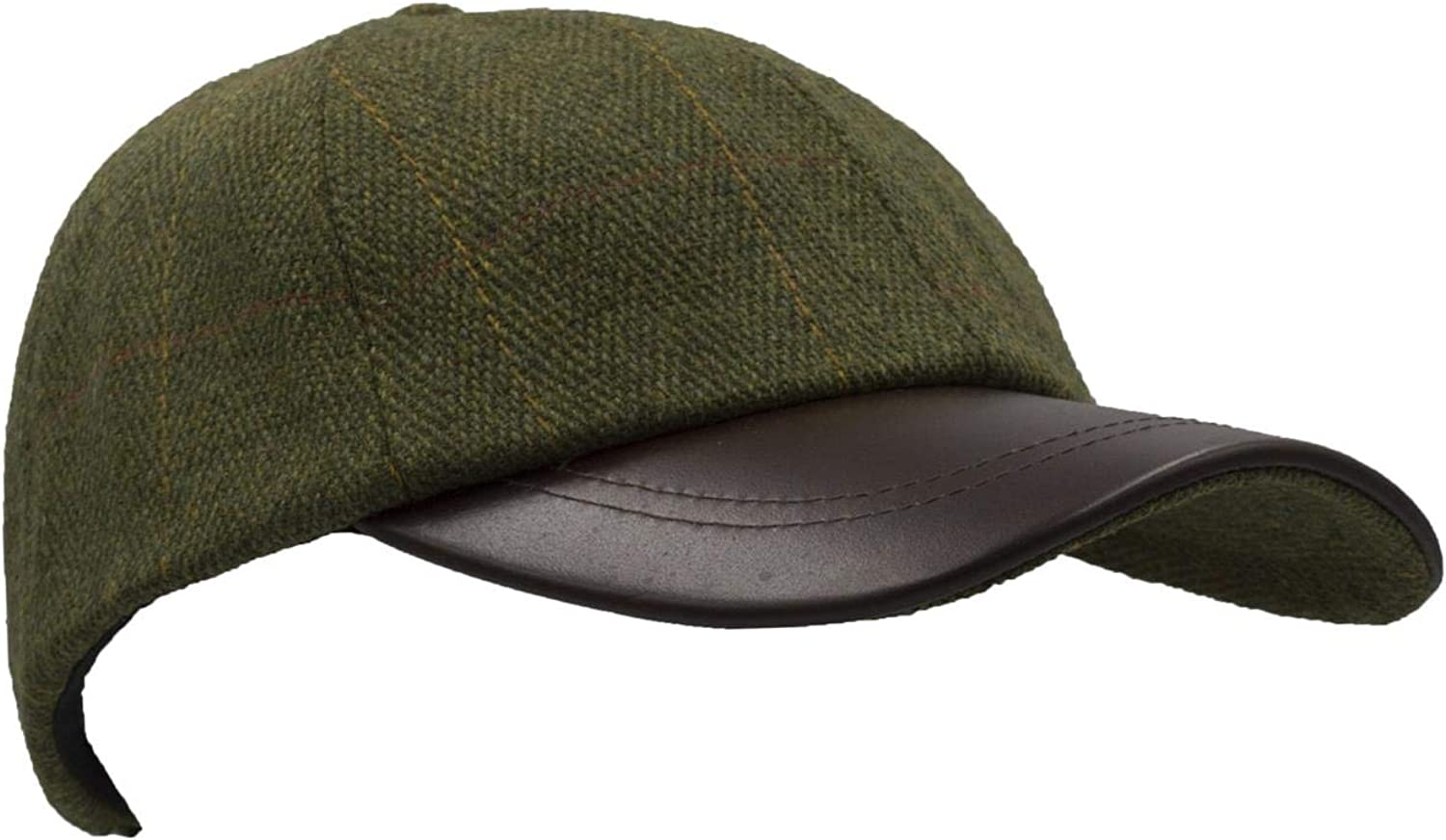 Heritage Traditions Womens Mens Grey Tweed Suede Baseball Casual Skip Cap Hat
