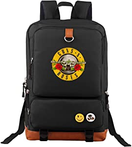 Guns-N-Roses Travel Laptop Backpack Business Slim Durable Computer Bag for Man Women Black