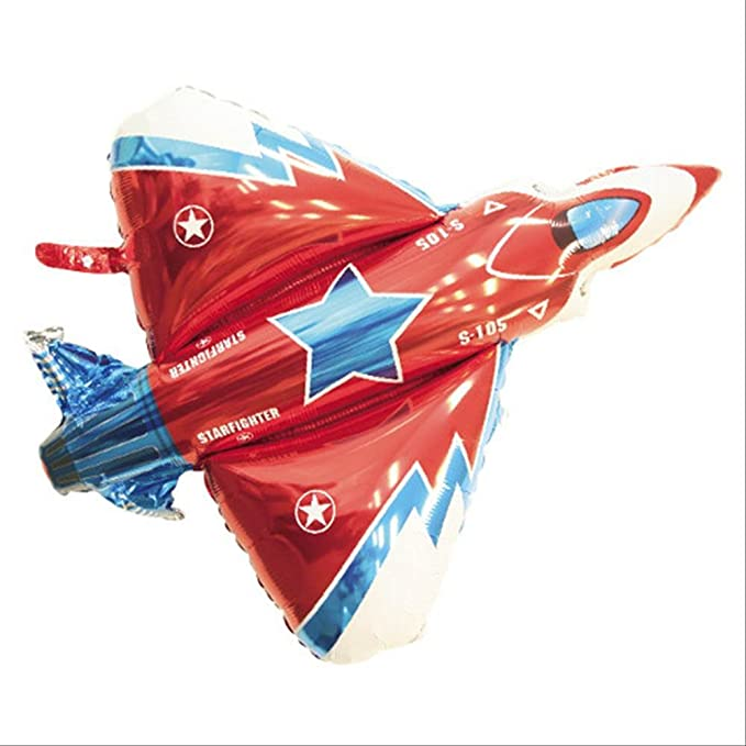 New 31 inch Flying Plane Shape Balloon Airplane Foil Helium Balloon Party B ES