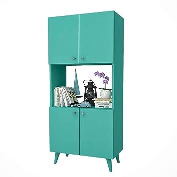 HOMENSE Placard DE Cuisine BIERNE 135x60X32CM Design Bleu Turquoise ...