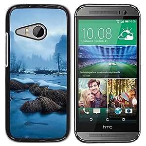 // PHONE CASE GIFT // Duro Estuche protector PC Cáscara Plástico Carcasa Funda Hard Protective Case for HTC ONE MINI 2 / M8 MINI / Snowy River /