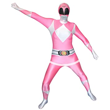 Morphsuits Adulti ufficiali Rosa Traje de Power Ranger - XX-Large ...