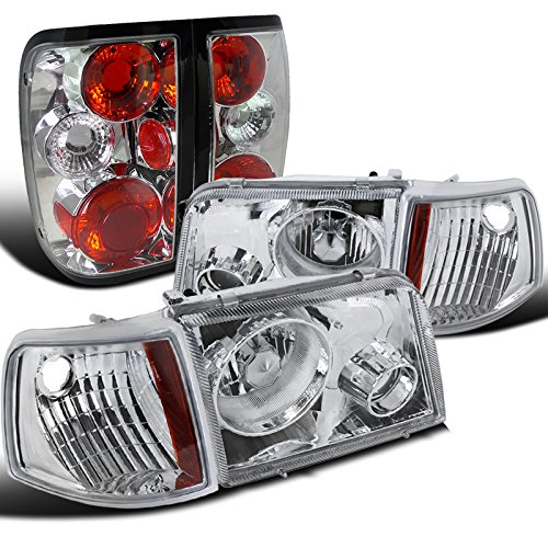 Ford Ranger Chrome Clear Projector Headlights+Corner Lights+Tail (Used Headlight Assembly)