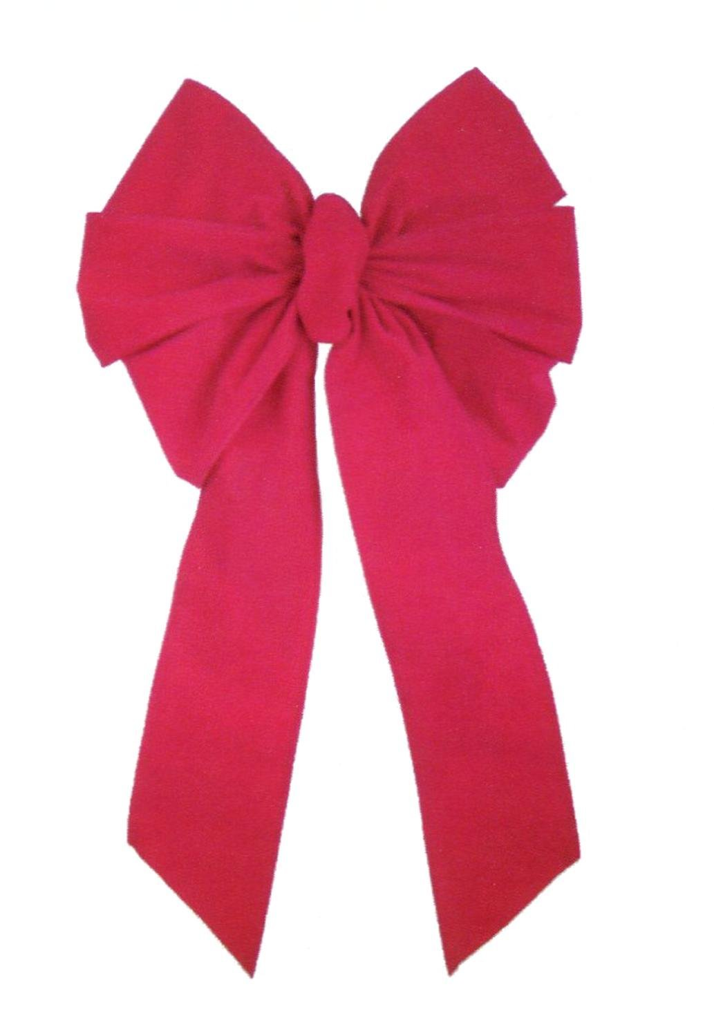 22'' x 39'' Large Commercial Red Velveteen 10 Loop Wired Holiday Christmas Bow