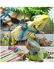 Grifri Réglable Mode Reptile Lézard Harnais Laisse Lumière Multicolore Doux Mode