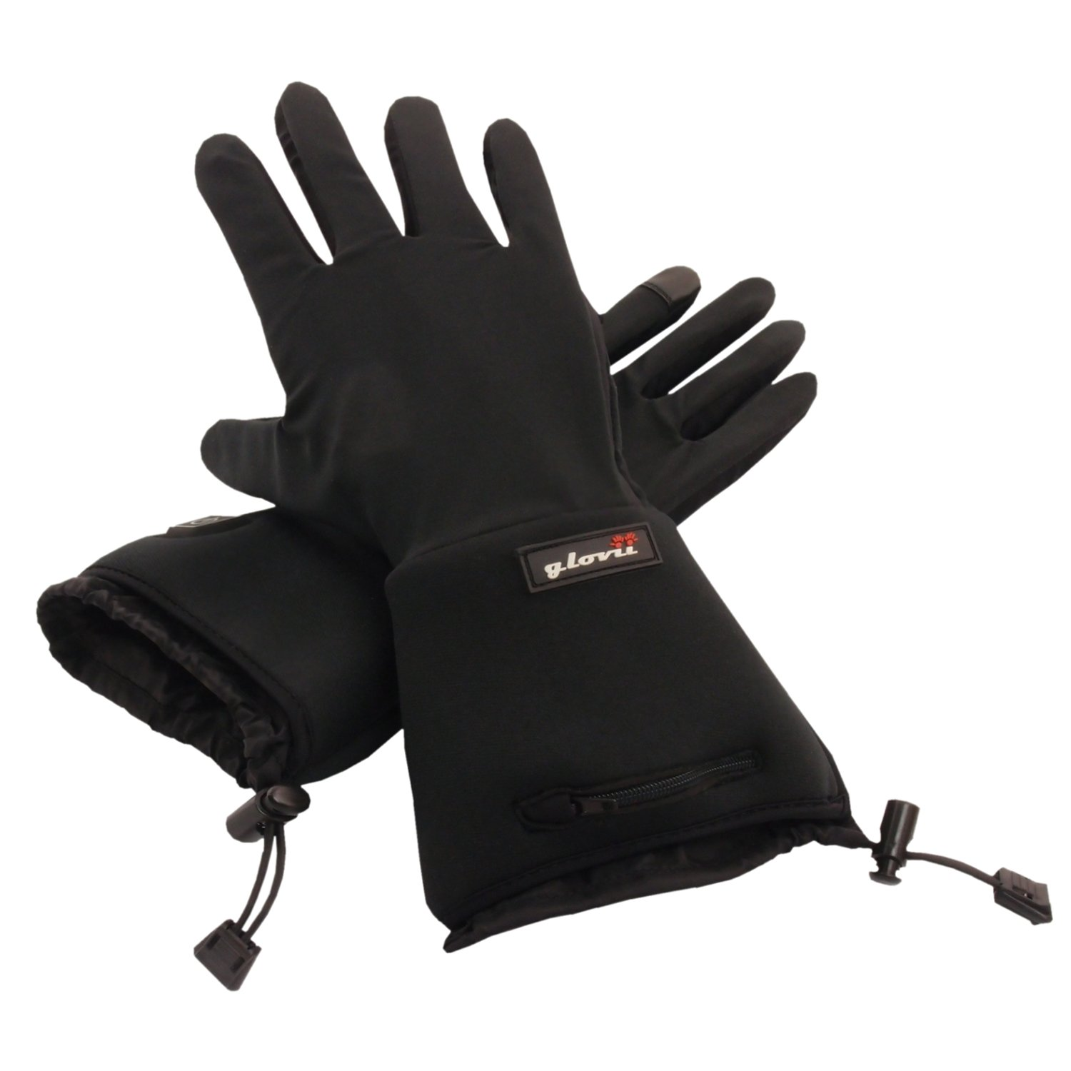Battery Heated Universal Touchscreen Glove Liners, up to 6 hours of warmth at one recharge - improved 2014 model with free battery extention cable and free storage case - Glovii by Glovii (Image #1)