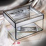 J Devlin Box 841 Personalized Wedding Card Box Engraved Glass Card Holder Reception Decor Keepsake Display