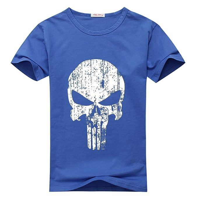 weileDIY Punisher Skull DIY Custom Men'S Classic T-Shirt Tshirt hixbtu6