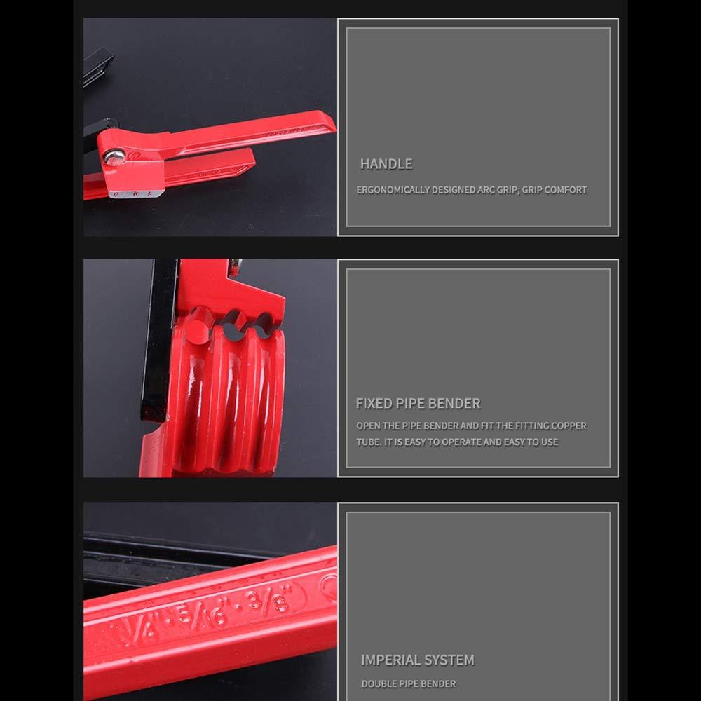 RETYLY Dobladora de Tubo 3 en 1 Alicates de Combinaci/óN de 90 Grados para 6-10 Mm Tipo de Palanca de Tubo de Cobre Herramientas Manuales de Doblado Manual