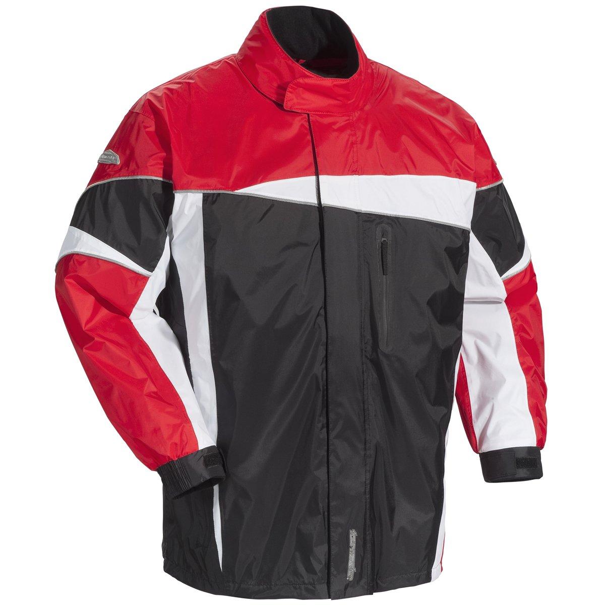 Tour Master Defender 2.0 Men's Street Bike Racing Motorcycle Rainsuit - Black/Red X-Large
