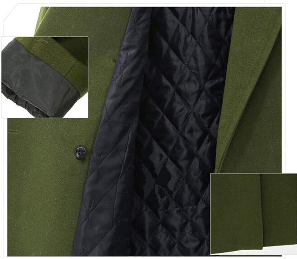 Finerun Damen Wolle Windjacke Kunstpelz Langarm G/ürtel Trenchcoat Elegantes Warme Oberteile Jacke Lose Wollmantel