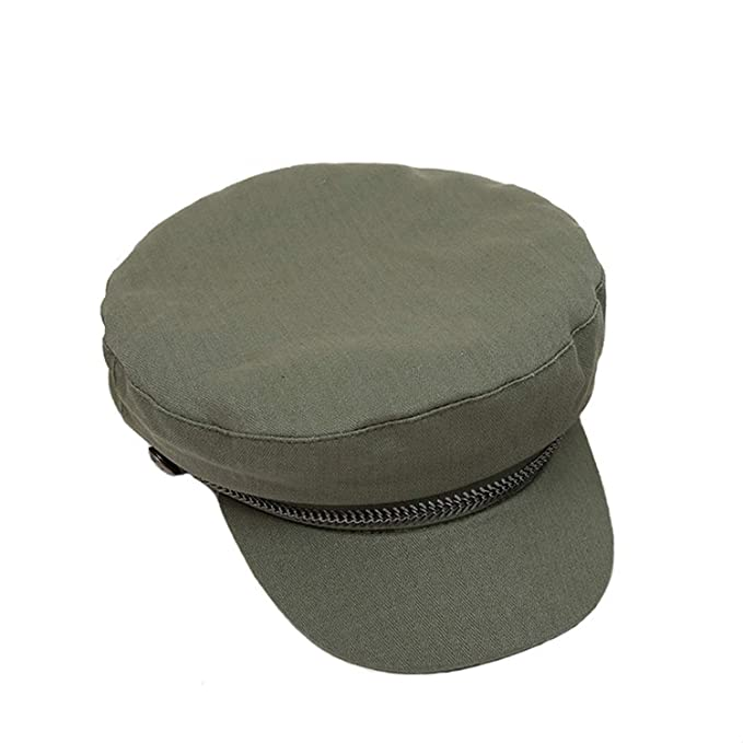 Women Cotton Hat Solid Visor Military Hat Army Autumn Berets ... 90251a86f0