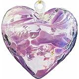 February Birthstone Glass Heart - Amethyst