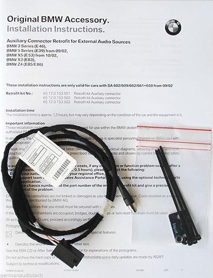 amazon com: genuine bmw x3 z4 cd player radio mp3 aux auxiliary input  adapter kit android ipod iphone e83 e85 e86: automotive