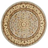 Safavieh LNH213G Lyndhurst Collection Round Area Rug, 5-Feet 3-Inch Diameter, Grey and Beige Picture