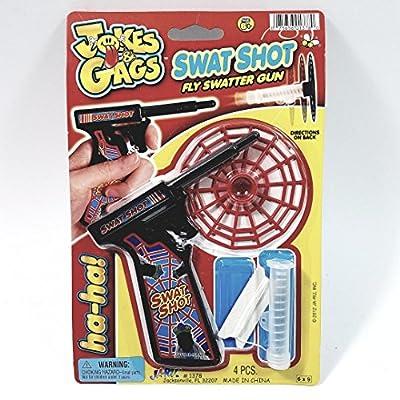 Gags & Jokes Swat Shot Fly Swatter Gun Working Fly Prank Novelty: Toys & Games
