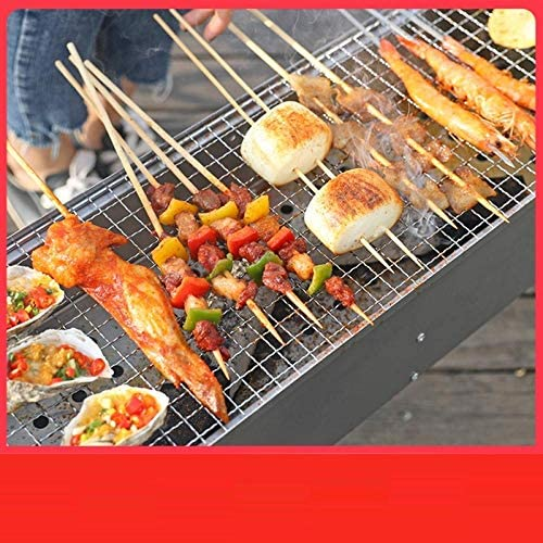 zhongleiss Barbecue Au Charbon Grill Portable Pratique Barbecue Au Charbon De Bois pour Barbecue Gril De Barbecue Épaissi pour Barbecue en Plein Air