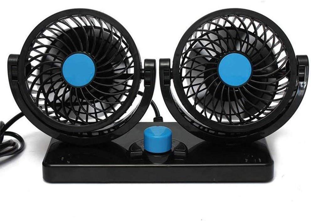 BONUS ET SALVUS TIBI (BEST) BestFire Ventilador de Refrigeración para Coche 12V Velocidad Ajustable 360 Grado Giratorio Silencioso Ventilación Fan para Coche SUV