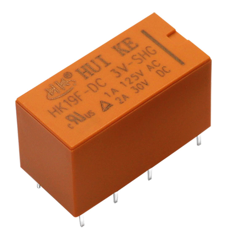 Tnisesm// 6St/ück Spule DPDT PCB Leistungsrelais DC 5V 8 Poliges Mini Leistungsrelais PCB Relais HK19F-8P-5V