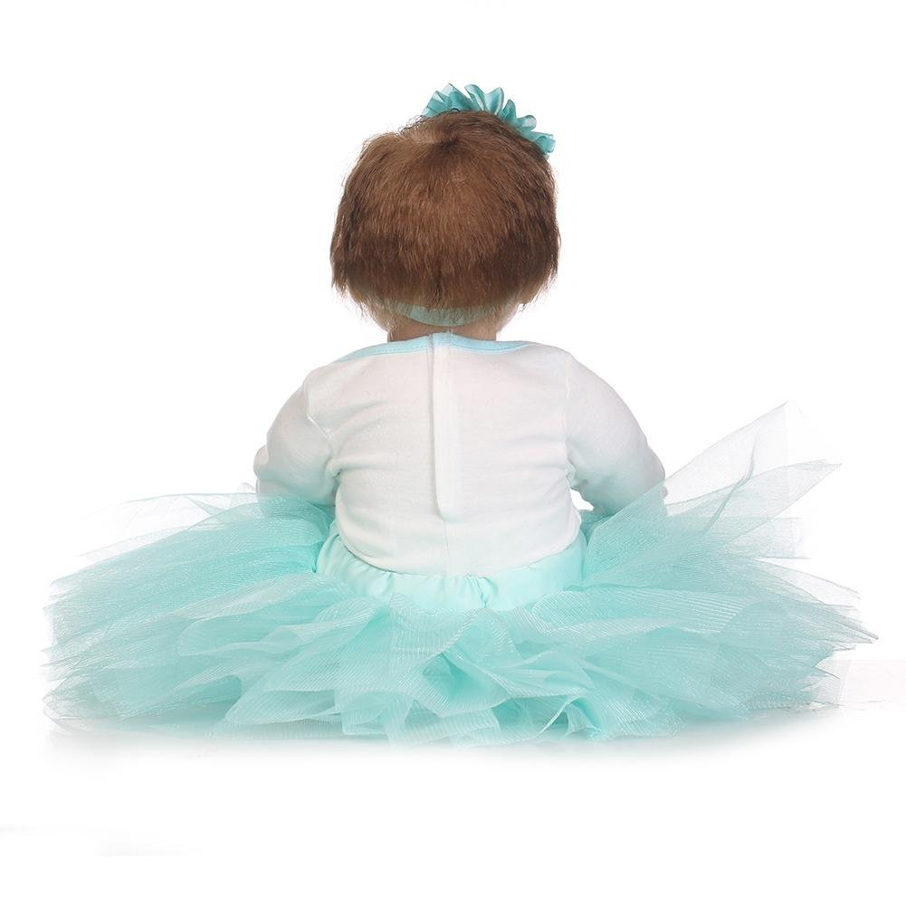 chinatera Little Girls Toy NPK Lovely Realistic Simulation Reborn Doll Soft Silicone Lifelike Artificial Kids Cloth Dolls by chinatera (Image #4)