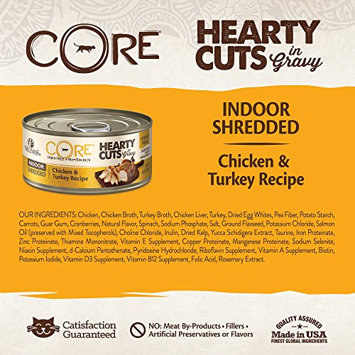 Wellness Core Hearty Cuts Natural Canned Grain Free Wet