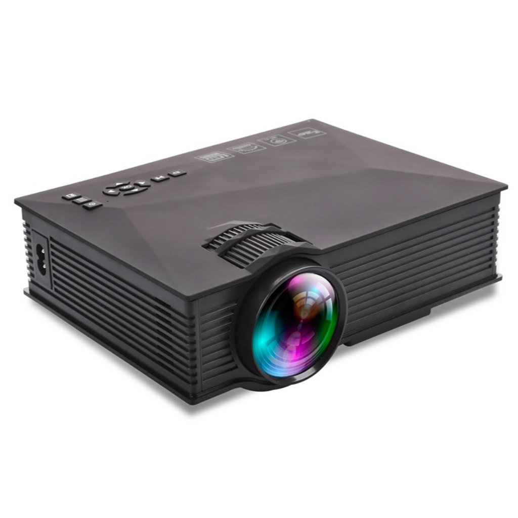 Build Excellent UC46+ 1200 Lumens LED Mini Projector Portable WiFi Connection LCD Projector Home Cinema Theater Support 1080P HDMI USB SD Card VGA AV WIFI for TV Laptop iPhone Andriod Smartphone Gamin