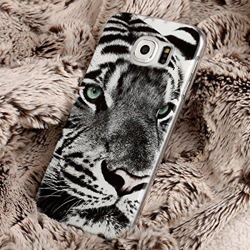 Ooh. Color 025604_ aca014avec motif animaux silicone souple TPU Bumper pour Apple iPhone 4/4S Transparent