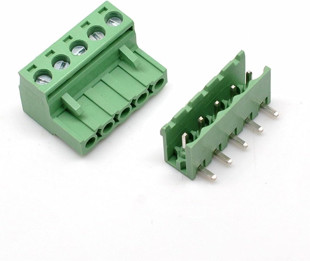 Connettori a morsettiera innestabili PCB ad angolo retto a 20 pin con angolo retto da 5,08 mm