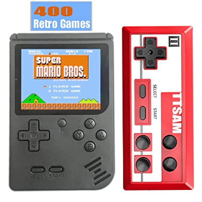 TTSAM Handheld Games Console for Kids Adults Retro FC Video Games Consoles 3 inch Screen 400 Classic Games Player with AV Cable Can Play on TV (Black): Toys & Games
