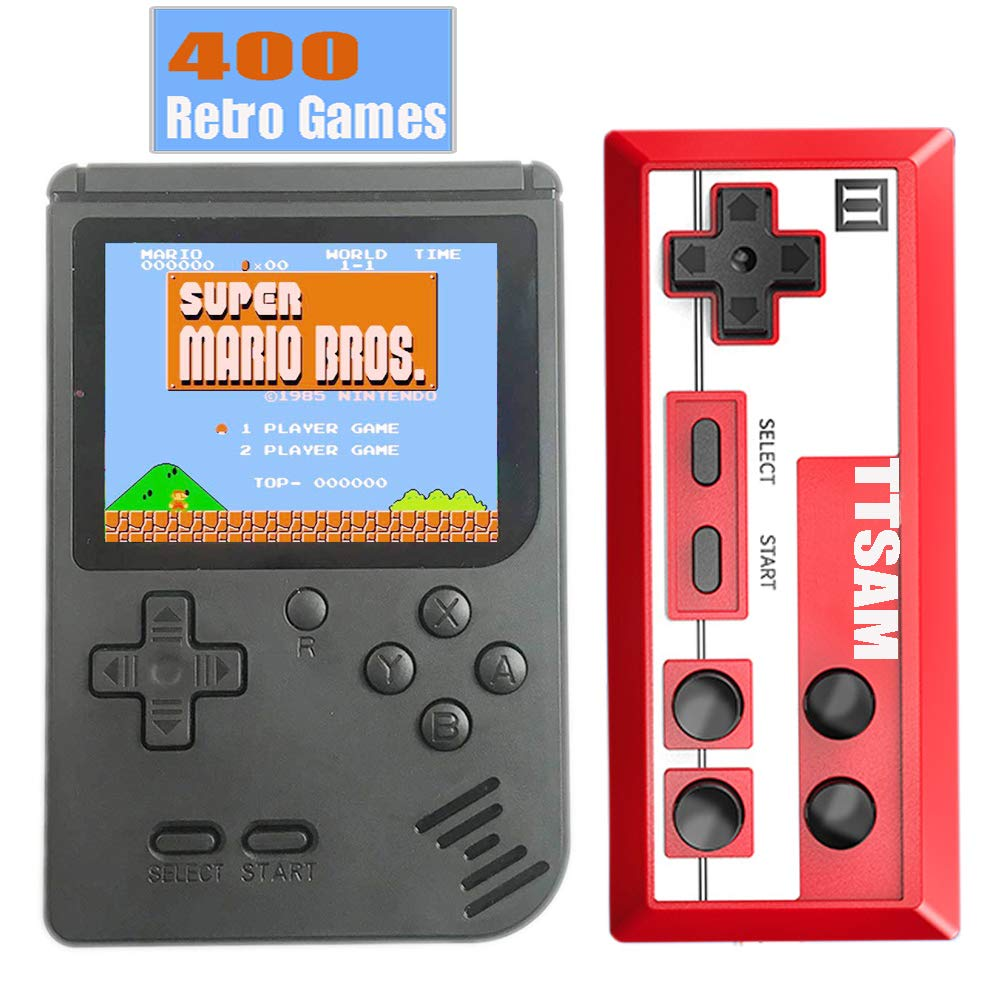 TTSAM Handheld Games Console for Kids Adults Retro FC Video Games Consoles 3 inch Screen 400 Classic Games Player with AV Cable Can Play on TV