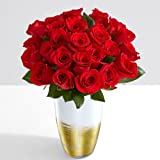 ProFlowers - 24 Count Red Two Dozen Red Roses w/Free Clear Vase - Flowers