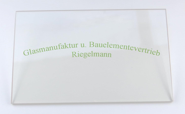 5 mm ROBAX®-Kaminglas 4 od Ofenglas 32  x  36 cm  Dicke: 3 od