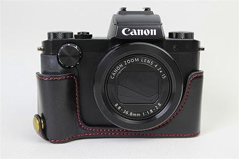 Zakao - Funda de piel sintética para cámara Canon PowerShot G5 X ...