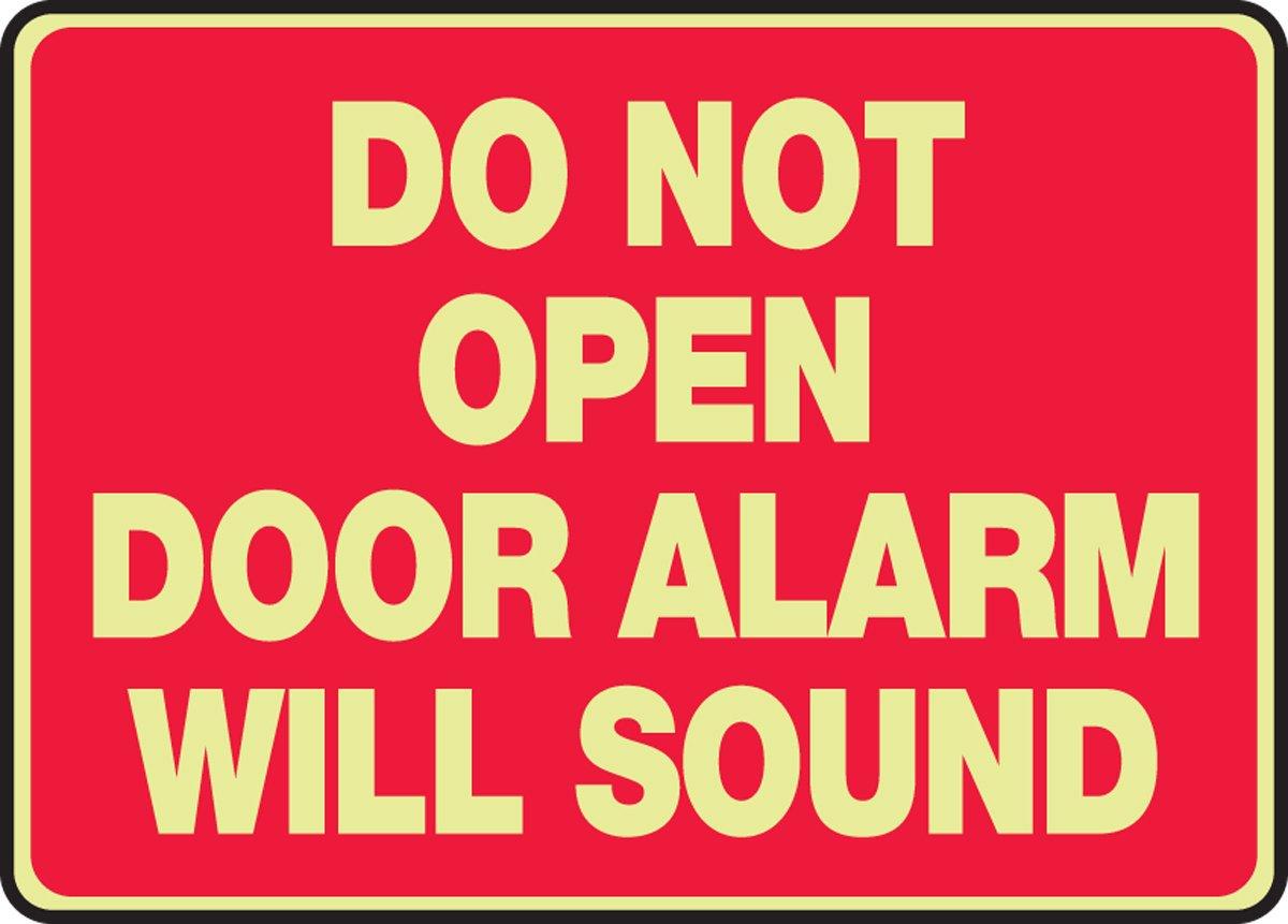 Puerta No Abrir puerta alarma sonará (Glow) 10