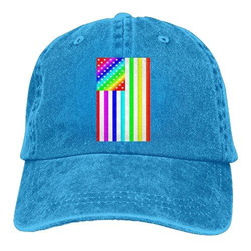 JINYOUR Cowboy Hat Rainbow Flag Adult Adjustable Washed Baseball Cap -