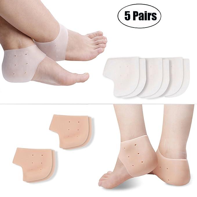 Kapmore Fersensporn Bandage Silikon, Fersensocke Fersenschutz Weiches Gebrochene Ferse Verhindern für Chronischen Fersenschme