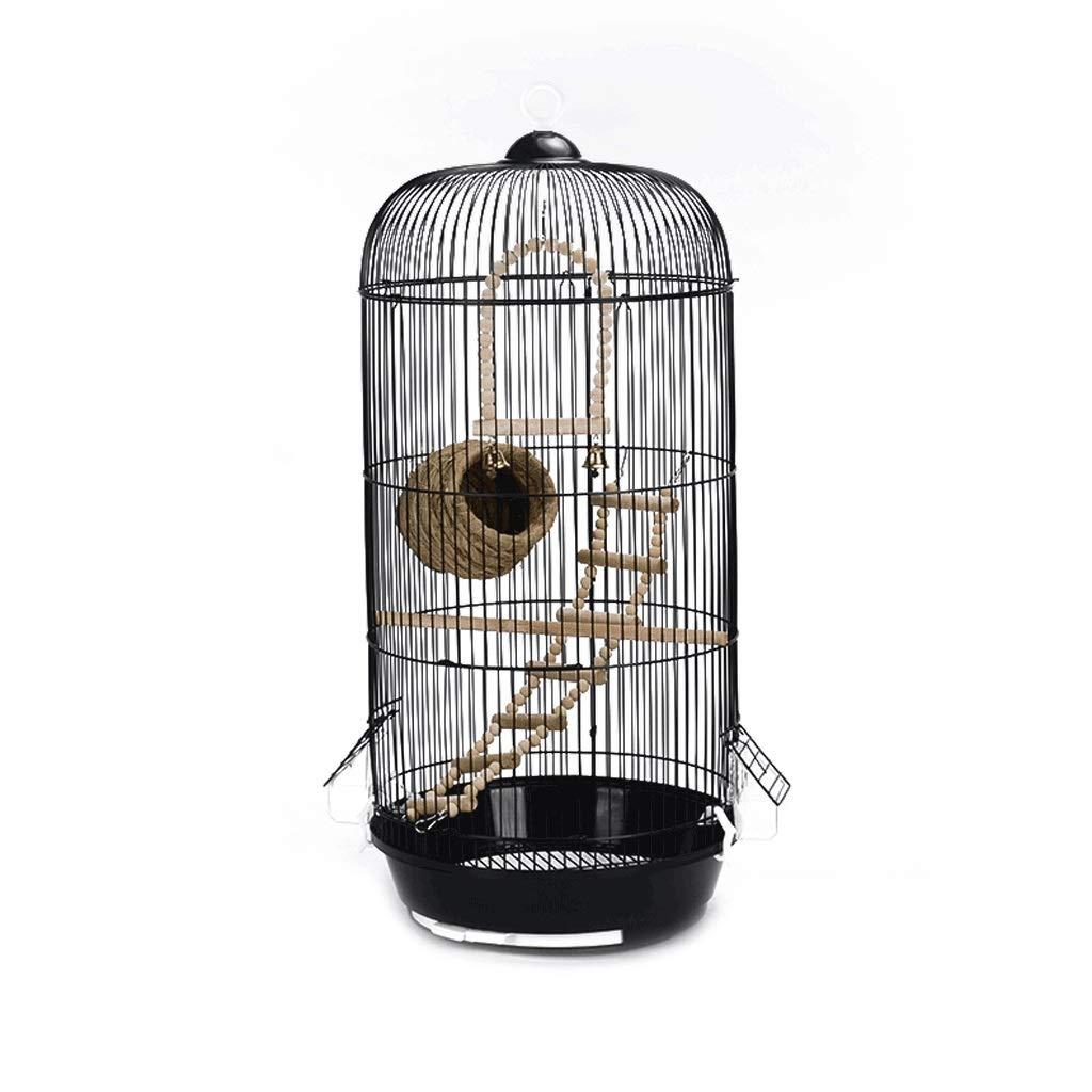 Zxb-shop Bird Nest Large Metal Birdcage Simple European Round Pet Bird Villa Indoor Outdoor Bird Hanging Cage Bird House Bulk by Zxb-shop