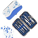 Nail Clippers, Manicure Pedicure Tools Set, Onedayshop 7PCS Stainless Steel Professional Nail Clipper Travel & Grooming Kit Scissor Eyebrow Tweezer Ear Pick for for Men and Women Facial, Cuticle and Nail Care With Portable Travel Case