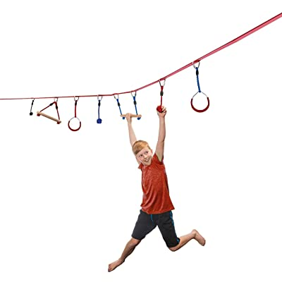 Ripline NinjaLine 30' Intro Kit with 7 Hanging Obstacles: Toys & Games