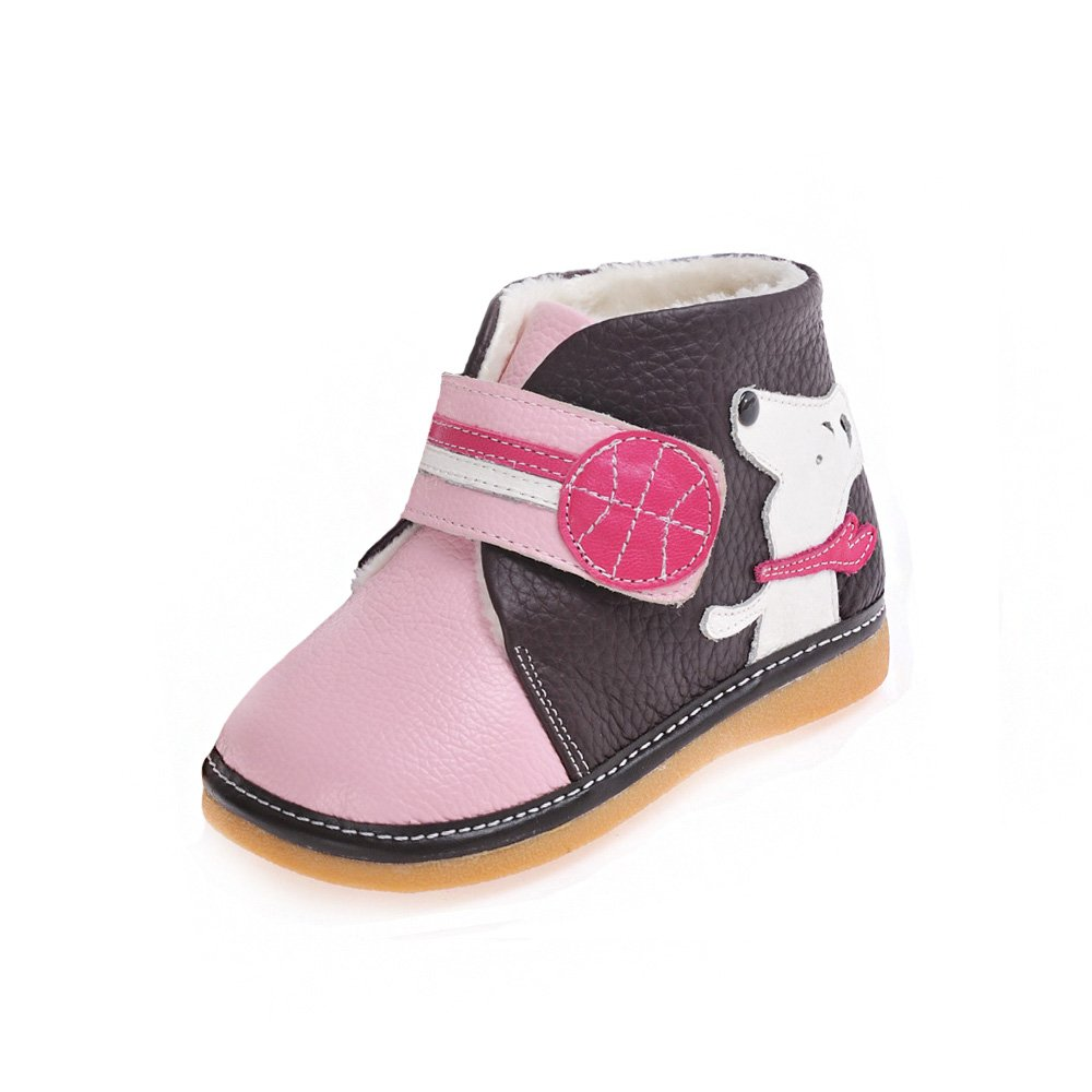 HLT Toddler/Little Kid Girl Comfy Fur Lining Puppy/Basketball Pink Squeaky Low Boot [US 10 / EU 26]