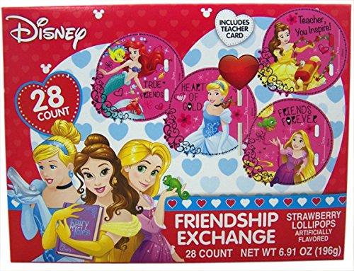 Disney Princess Valentine's Day Cards with Lollipops, 28 (Princess Valentines Day Cards)