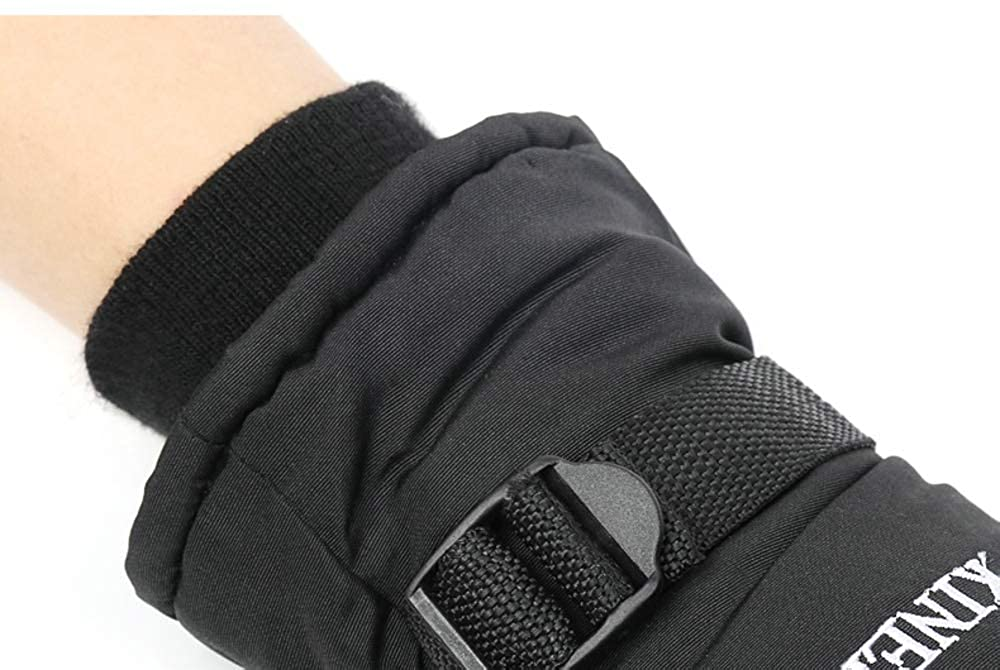 Rouoi Winter Warm Gloves Male Ski Plus Velvet Cold Waterproof Outdoor Riding Gloves