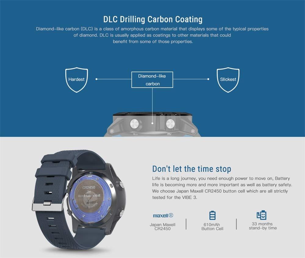 certainPL Zeblaze VIBE 3 Sport Smartwatch (Bluetooth), Waterproof Activity Tracker Calories Counter Step Counter Sports Watch (Blue)