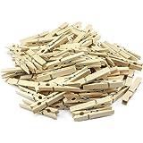 Com-Four Lot de 2 x 50pinces à linge en bois