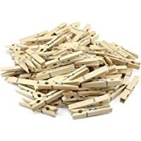 com-four® naturbelassene Wäscheklammern, Stabile Wäscheklammern aus hochwertigem Holz