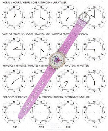 Reloj niña Chica Infantil analógico de Cuarzo en Caja de Regalo, Resistente al Agua (Estrella): Amazon.es: Relojes
